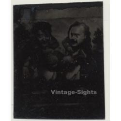 2 Funny Guys / Arcade Comic Tintype (Vintage Ferrotype Photo...
