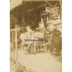 Belgium: People Sitting Outside Café - Bar / Chambres Des...