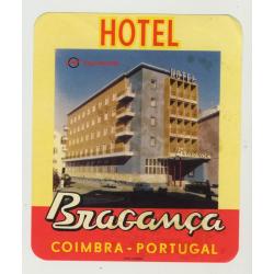 Hotel Braganca / Coimbra Portugal (Vintage Luggage Label)