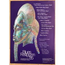 Blues Fest Bonn '85 (Vintage Concert Poster) LOWELL FULSON...JIMMY ROGERS