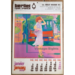 Vintage 1976 Berliet Lyon - France Calendar / Great 70s...