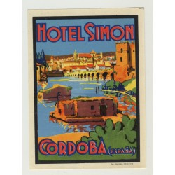 Hotel Simon - Cordoba / Spain (Vintage Luggage Label)
