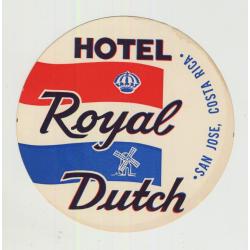 Hotel Royal Dutch - San Jose / Costa Rica (Vintage Luggage Label)