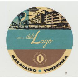 Hotel Del Lago (Inter-Continental) - Maracaibo / Venezuela (Vintage Luggage Label)