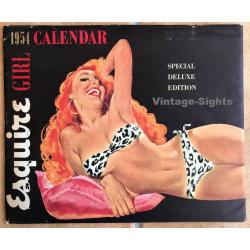 Vintage 1954 Esquire Pinup Calendar + Envelope / Ernest Chiriaka
