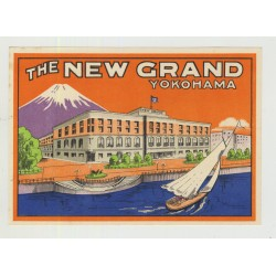 The New Grand - Yokohama / Japan (Vintage Luggage Label)