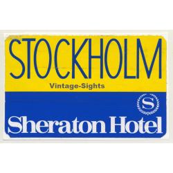Stockholm / Sweden: Sheraton Hotel (Vintage Self Adhesive...
