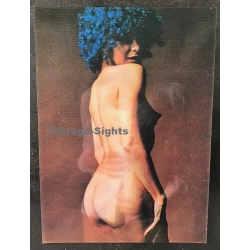 PS-7: Nude With Hair Dyed Blue / Pin-Up (Vintage 3D Stereo...