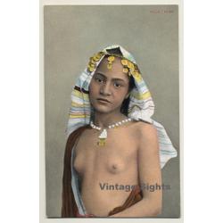 Egypt: Fille Arabe / Headdress - Nude - Ethnic (Vintage PC...