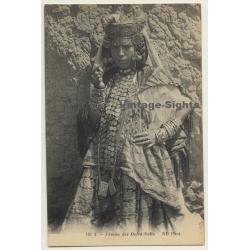 Algeria: Femme Des Ouled-Nails / Headdress - Ethnic (Vintage PC)