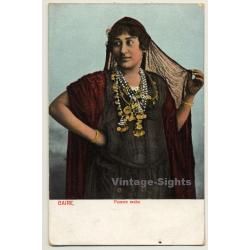 Cairo / Egypt: Femme Arabe / Traditional Costume - Ethnic...