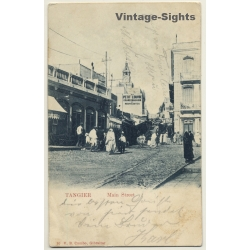 Tangier / Algeria: Main Street - Petit Louvre (Vintage PC 1906)