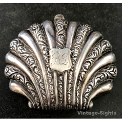 Vintage Silver Shell Shaped Coin Purse (UK Victorian Era ~1880s)