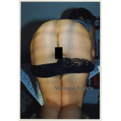 Rear View: Kneeling Woman With Dropped Panties / Butt (Vintage...