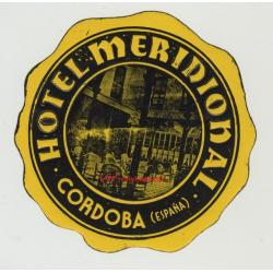 Hotel Meridional - Cordoba / Spain (Vintage Luggage Label)