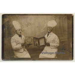 2 Costumed Pastry Cooks / Delhaize Biscuiterie - Blackface...