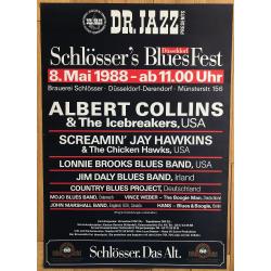 Schlösser's Blues Fest Düsseldorf 1988: Screamin Jay Hawkins.. (Vintage Concert Poster)
