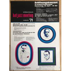 Hot Jazz Meeting Hamburg '71 - Humphrey Lyttelton... (Vintage Jazz Concert Poster)
