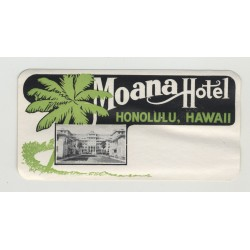 Moana Hotel - Honolulu, Hawaii / USA (Vintage Luggage Label)