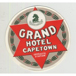 Grand Hotel - Capetown / South Africa (Vintage Luggage Label)
