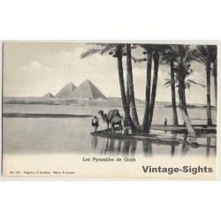 Egypt: Les Pyramides De Gizeh / Camel (Vintage PC ~1900s)
