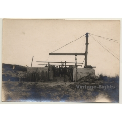 Outdoors Cannon Foundry / Military - WW1 (Vintage Photo ~1910s)