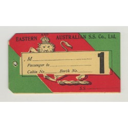 Eastern And Australian S.S. Co., LTD (Vintage 1st Class Shipping Line Luggage Tag)