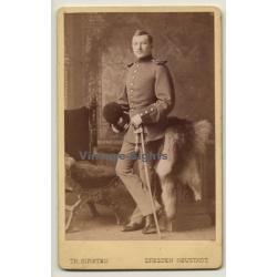 Th.Kirsten / Dresden-Neustadt: Soldier - Saber - Uniform - Fur...