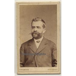 F.Willmann / Stuttgart: Portrait Of Andreas Kaercher (Vintage...