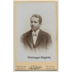 K.Schäfer / Ravensburg: Young Man - Suit - Bow (Vintage CDV /...