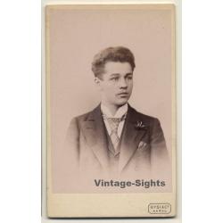 Gysi & Co / Aarau: Young Man - Suit & Tie (Vintage CDV / Carte...