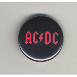 AC/DC (Vintage Pinback Button Badge 1980s)