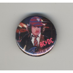 AC/DC - Angus Young (Vintage Pinback Button Badge 1980s)