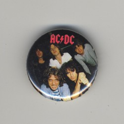 AC/DC - Complete Band (Vintage Pinback Button Badge 1980s)