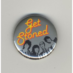 Rolling Stones - Get Stoned (Vintage Pinback Button Badge 1980s)