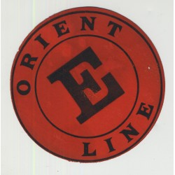 Orient Line  (Vintage British Shipping Line Luggage Label)