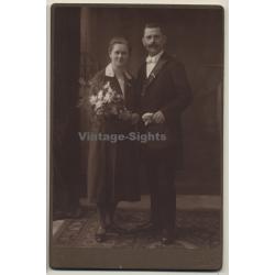 Carl Pietzner / Dux: Wedding Couple / Moustache (Vintage...