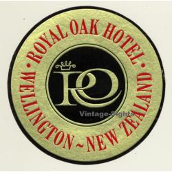 Wellington / New Zealand: Royal Oak Hotel (Vintage Luggage Label)