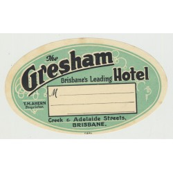 The Gresham Hotel - Brisbane / Australia (Vintage Luggage Label)