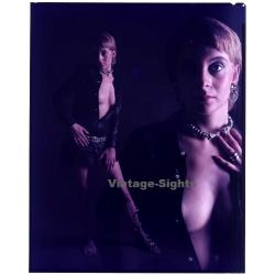 Shorthaired Woman / Erotic Fashion Shoot - Nip Slip (Vintage...