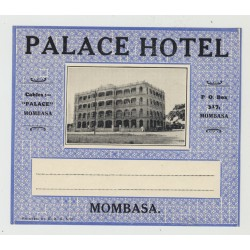 Palace Hotel - Mombasa / Kenya (Vintage Luggage Label)