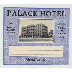 Palace Hotel - Mombasa / Kenya (Vintage Luggage Label)