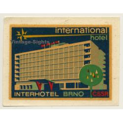 Brno / Czech Republic: International Hotel (Vintage Roll On...
