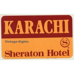 Karachi / Pakistan: Sheraton Hotel (Vintage Self Adhesive...