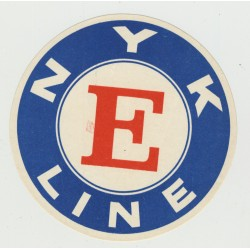 NYK Nippon Yusen Kaisha Line - E Class (Vintage Shipping Line Luggage Label)
