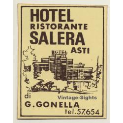 Asti / Italy: Hotel Ristorante Salera / Gonella (Vintage Self...