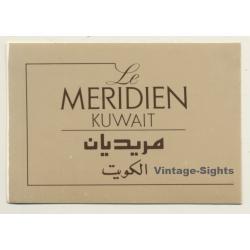 Kuwait: Le Meridien Hotel (Vintage Self Adhesive Luggage Label...
