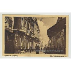 21400 Ayamonte / Spain: Calle Cristobal Colón (Vintage Postcard)