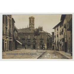 08650 Sallent: Placa De La Pau (Vintage Postcard)