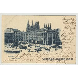 09003 Burgos / Spain: Plaza Mayor (Vintage Postcard)